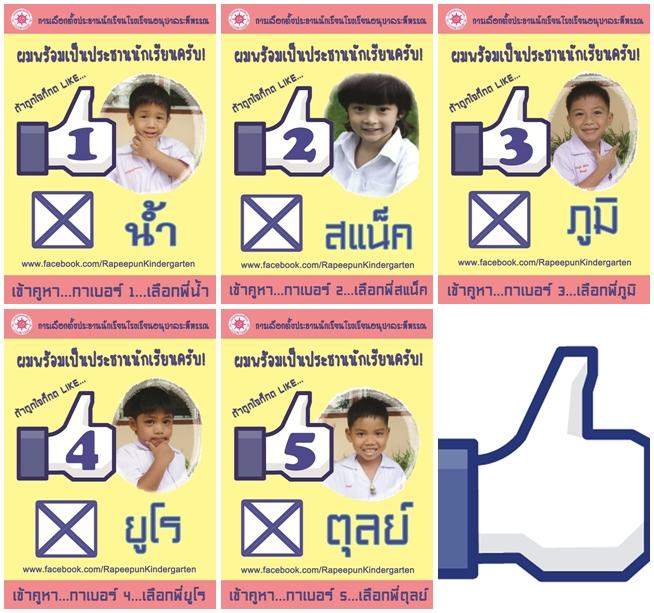 เลือกตั้งประธานนักเรียน โรงเรียนอนุบาลระพีพรรณ