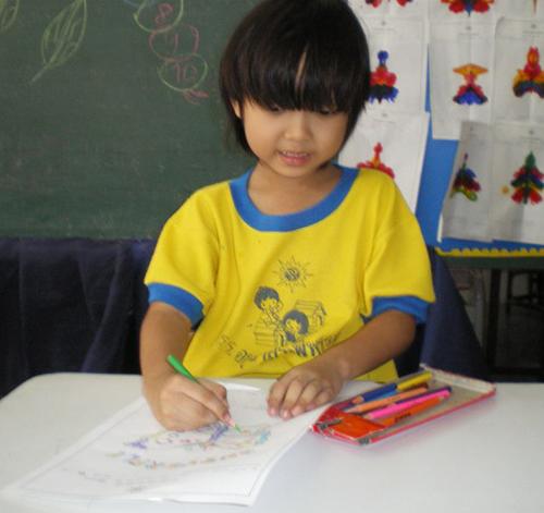 การ เรียนการสอน ของนักเรียนชั้นอนุบาล 2